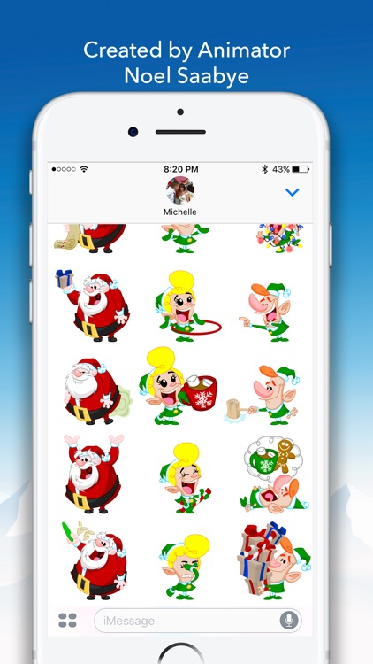 North Pole Animated Stickers