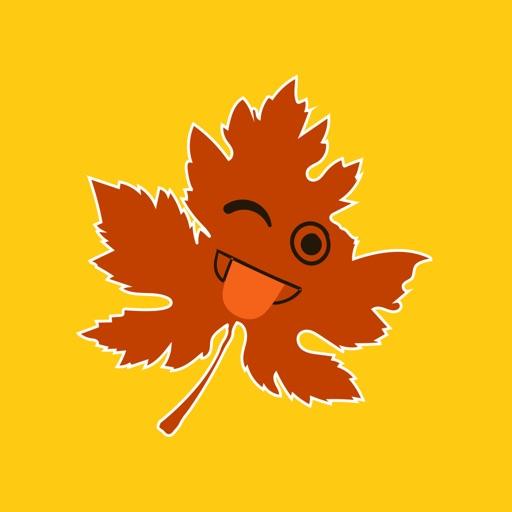 Autumnoji - Autumn Leaf Emoji & Pumpkin Sticker.s
