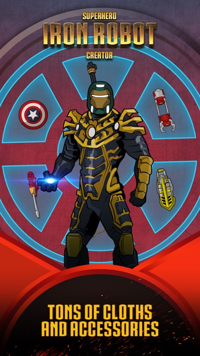 Superhero Iron Robot Creator for Avengers Iron-Man screenshot two