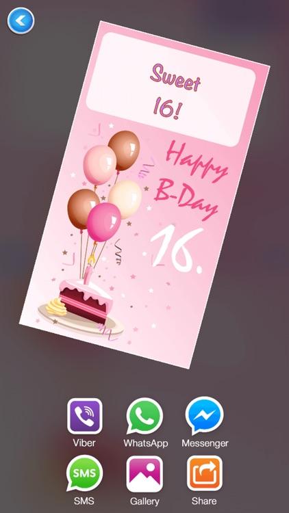 Happy Birthday Card Maker Free–Bday Greeting Cards screenshot-3