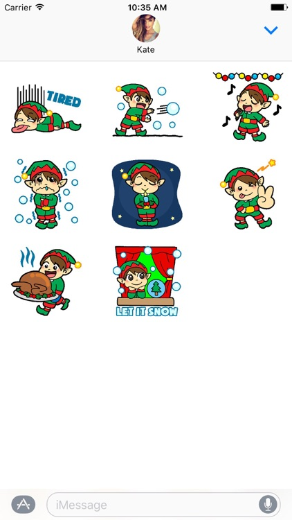 Funny Love Xmas Stickers screenshot-3