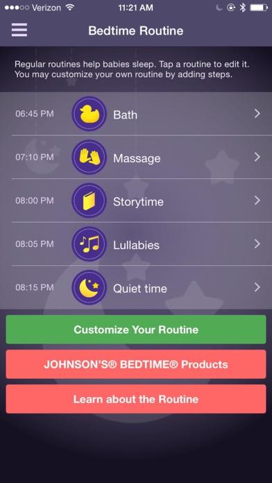 JOHNSON'S® BEDTIME™ screenshot two