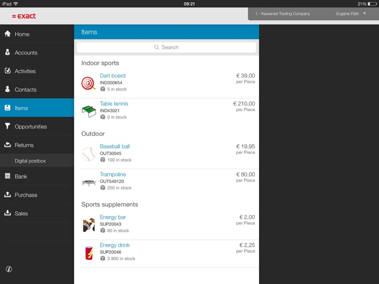 Exact Online for iPad screenshot-3