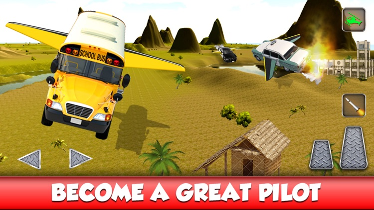 Flying Bus Stunts : Flight Simulator 2016