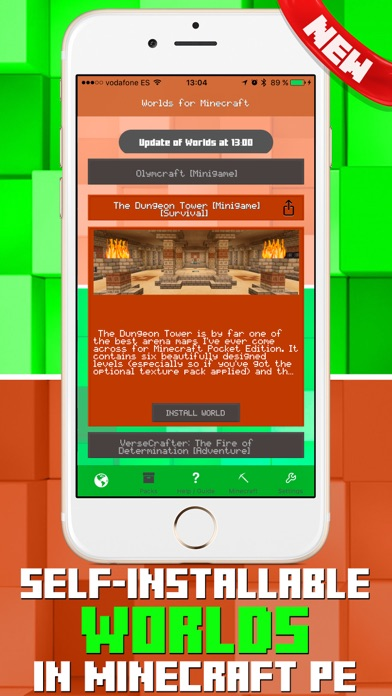 Add-ons for Minecraft PE - Self-installing addons