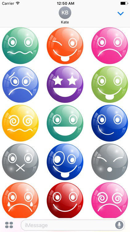 Color Emoticons Stickers
