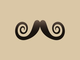 20 Moustache Stickers for November