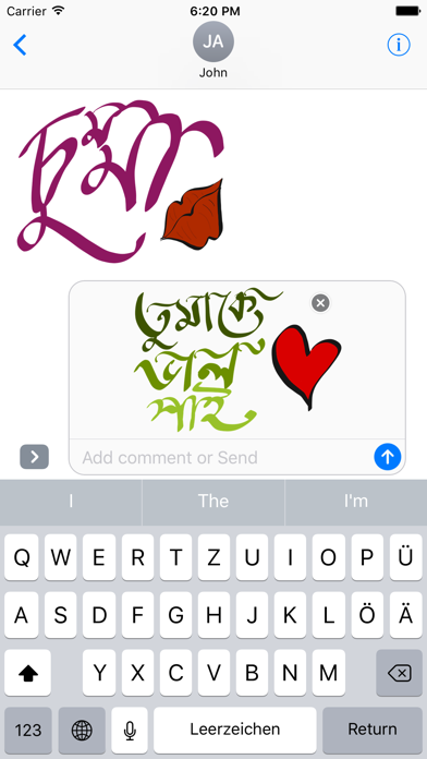 Bangla Stickers screenshot two