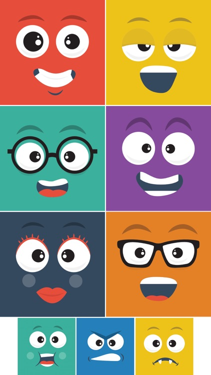 Square Face Stickers
