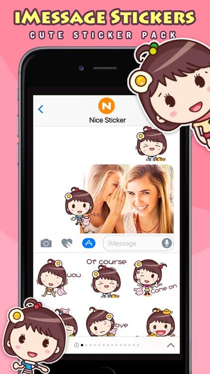 Yolk Girl Pro - Cute Stickers by NICE Sticker