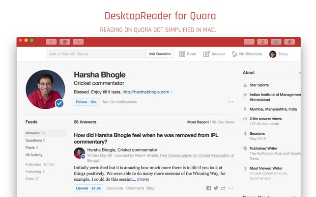 DesktopReader for Quora
