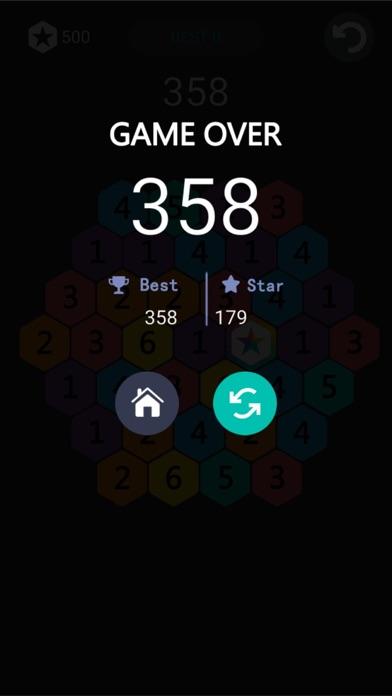 欢乐星星消除-六角形数字消除 screenshot three