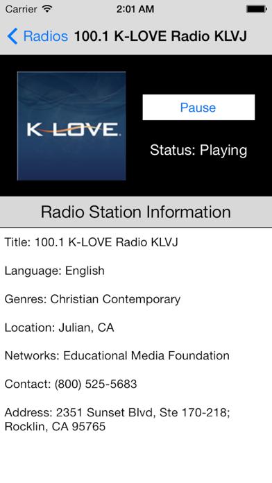 US Radio Live (United States of America USA) screenshot two