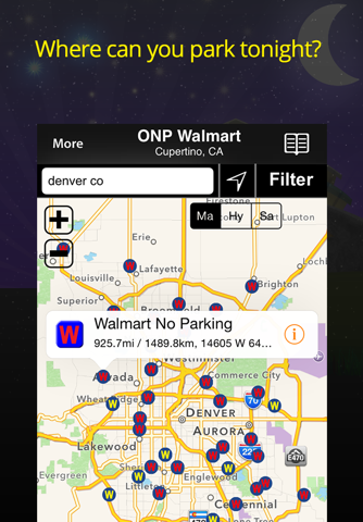 Walmart Overnight Parking Locator screenshot 1