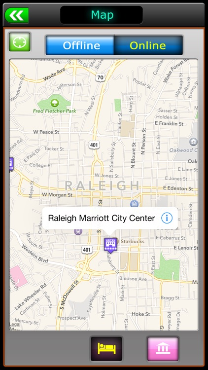 Releigh Offline Map City Guide