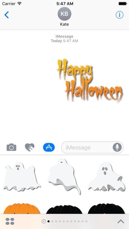 Halloween Elements for iMessage screenshot-3