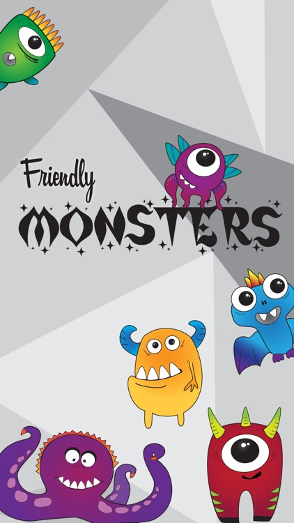 Friendly Monsters Sticker Pack