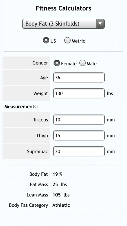 Fitness Calcs
