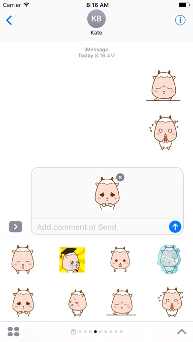 Lovely Sheep - Animated Stickers And Emoticons