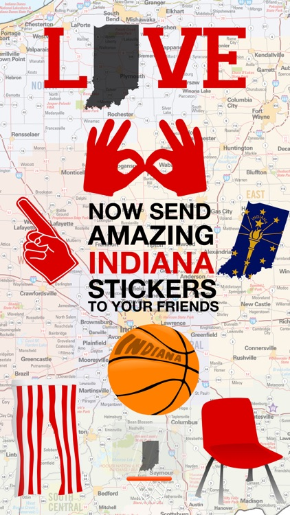 Love Indiana Stickers