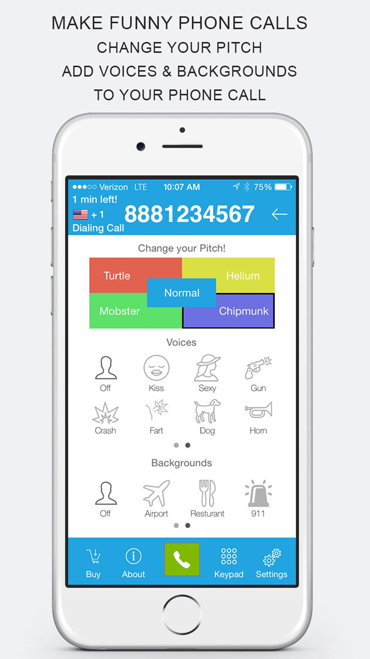 Voicy Phone - Prank Dial Call with Voice Changer Screenshot