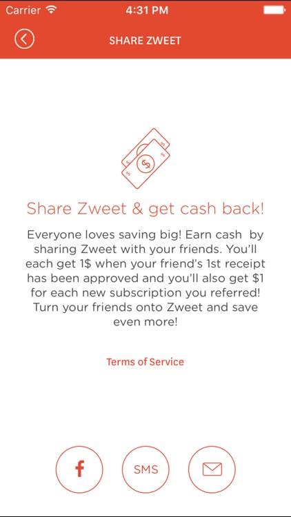 Zweet - Grocery Savings & Cash Back, Not Coupons screenshot-3