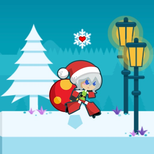Santa Girl Runner icon