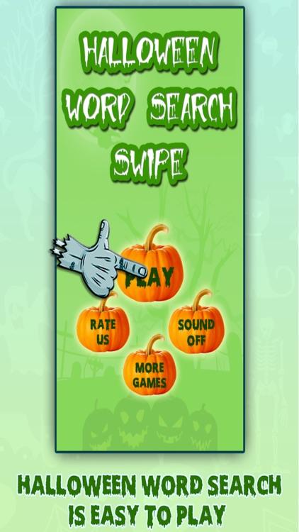 Halloween Word Search Swipe