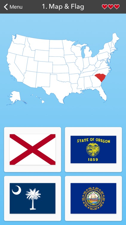 50 States Flag Capital And Us Map Quiz By Massimiliano Raber - Us-map-50-states