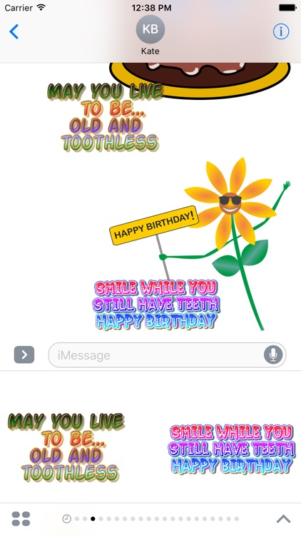 Birthday funny stickers for iMessage