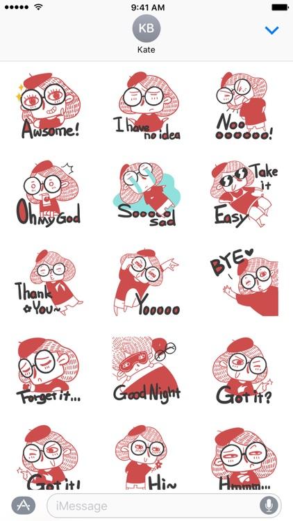 Miss Glasses − NHH Stickers
