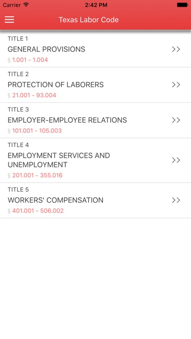 Texas Labor Code 2017 Screenshot