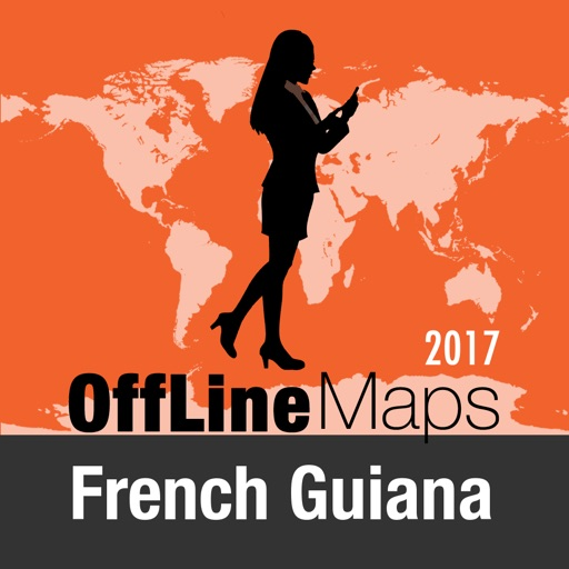 French Guiana Offline Map and Travel Trip Guide