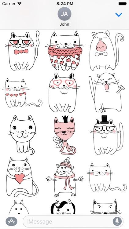 Cat Emotion Cute Sticker Pack 02