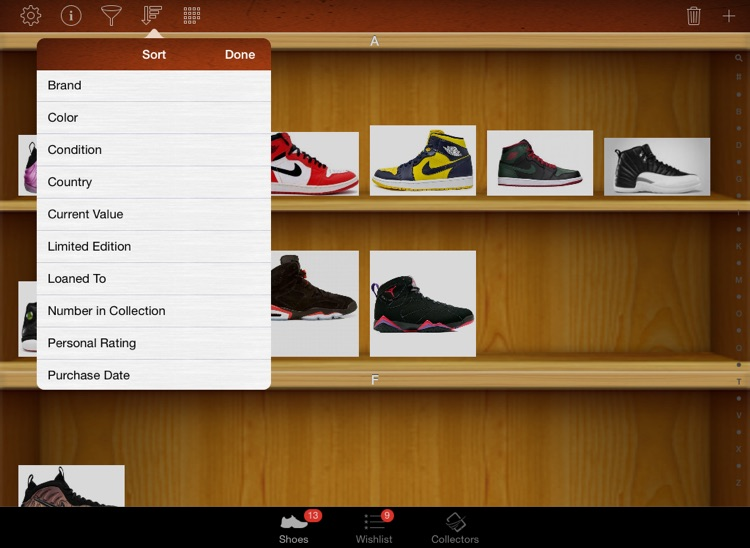 Shoe Collectors for iPad