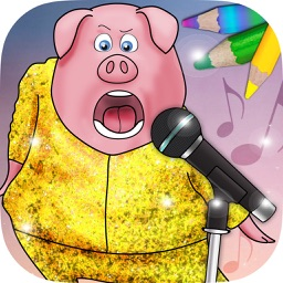 Color and sing with fantastic animals