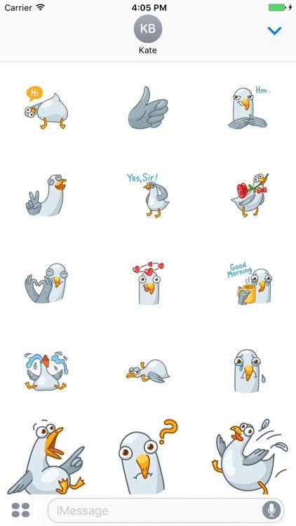 Gull! Stickers