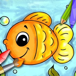Ocean Animals Coloring Book - Fish Adventures