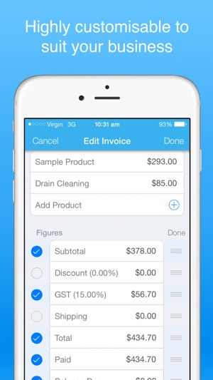 Invoice Maker Pro Create Invoices On The Go On The App Store - Create invoice app