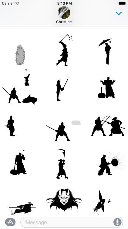Black & White Bushido Stickers