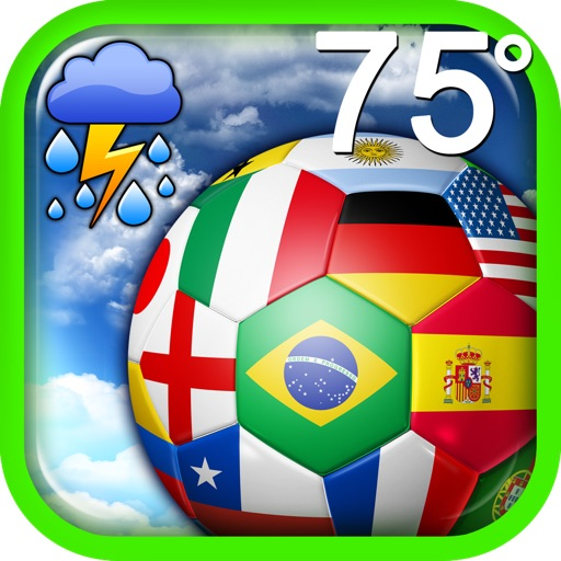 Brazil Weather Update - With Time Date and Temperature icon