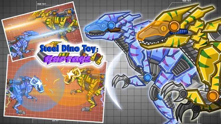 Steel Dino Toy:Mechanic Raptors - 2 player game screenshot-3