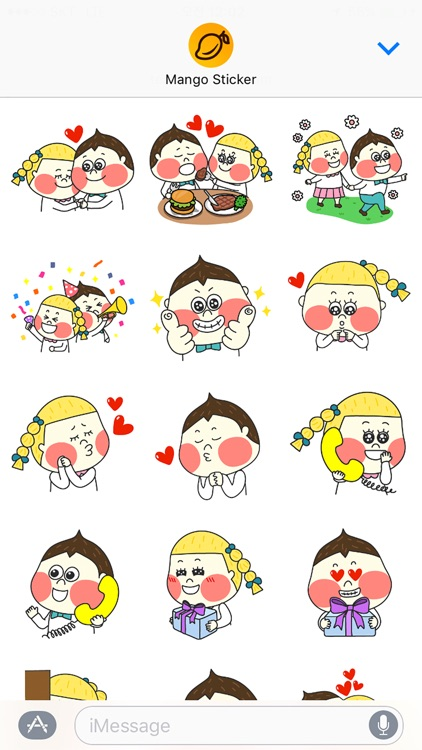 Chestnut Couple - Mango Sticker
