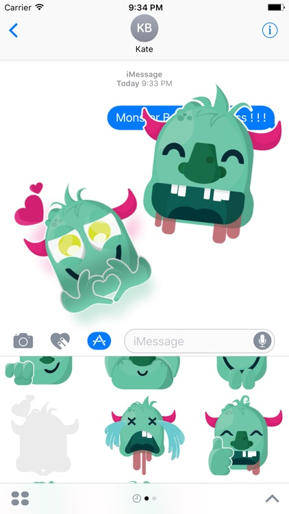 Baby Monster Sticker - Cute Messages