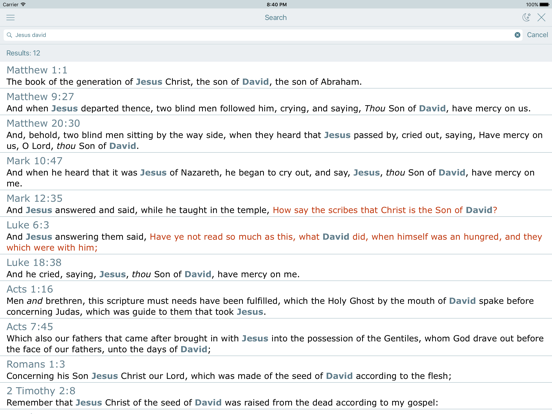 Holy Bible  New Testament  The King James Version | App
