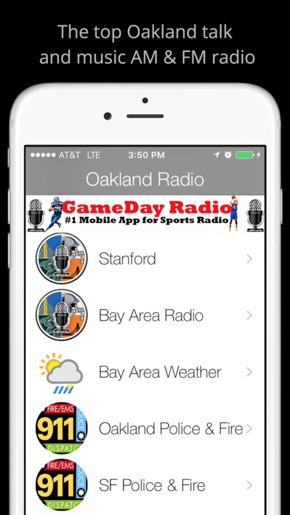 Oakland GameDay Live Radio - Raiders Nation and Warriors Edition screenshot-3
