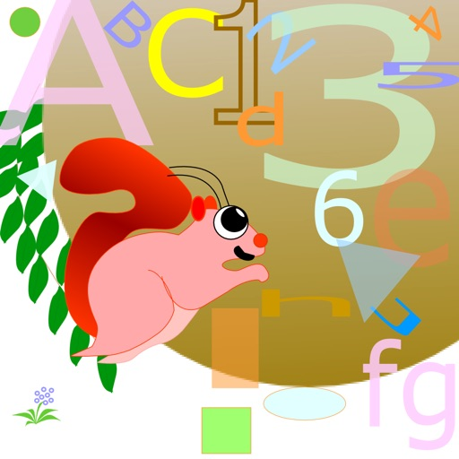 Squirrel Letters Numbers and Shapes icon