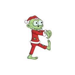 Christmas Xmas Zombie Santa Stickers