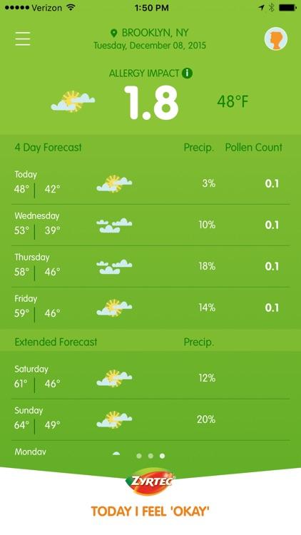ZYRTEC® ALLERGYCAST® | Pollen Count Tracker