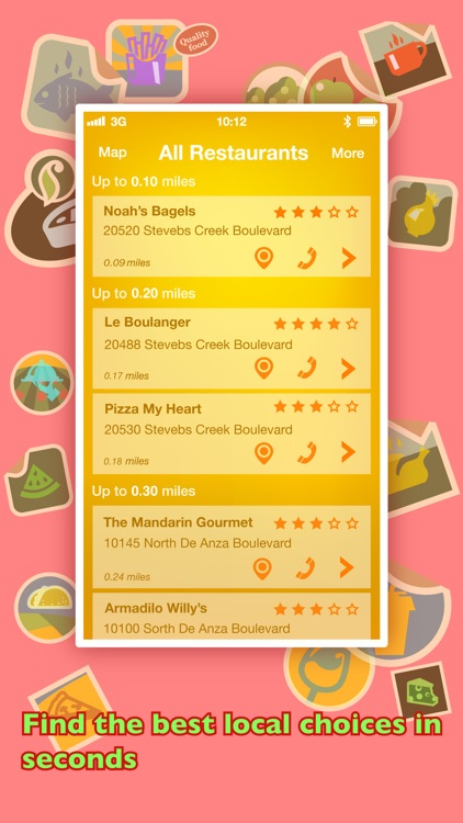 Where To Eat? - Find restaurants using GPS.